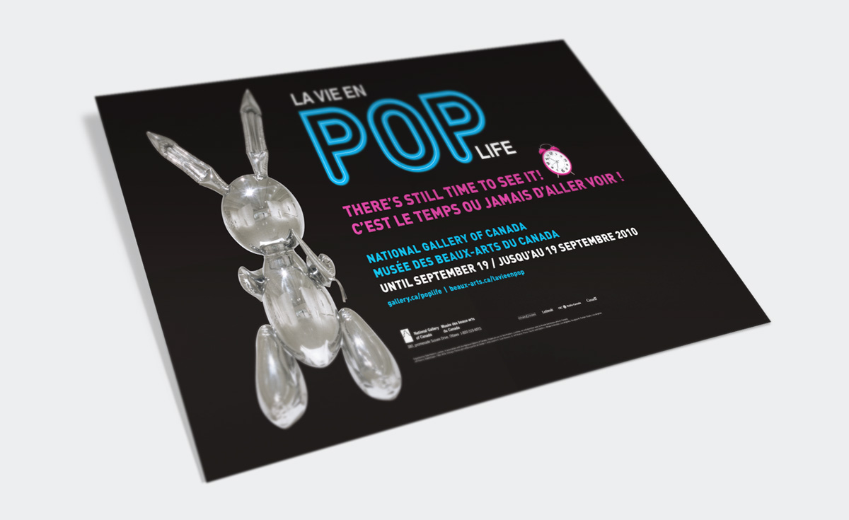 National Gallery of Canada - Advertising Campaign – Pop Life Exhibition