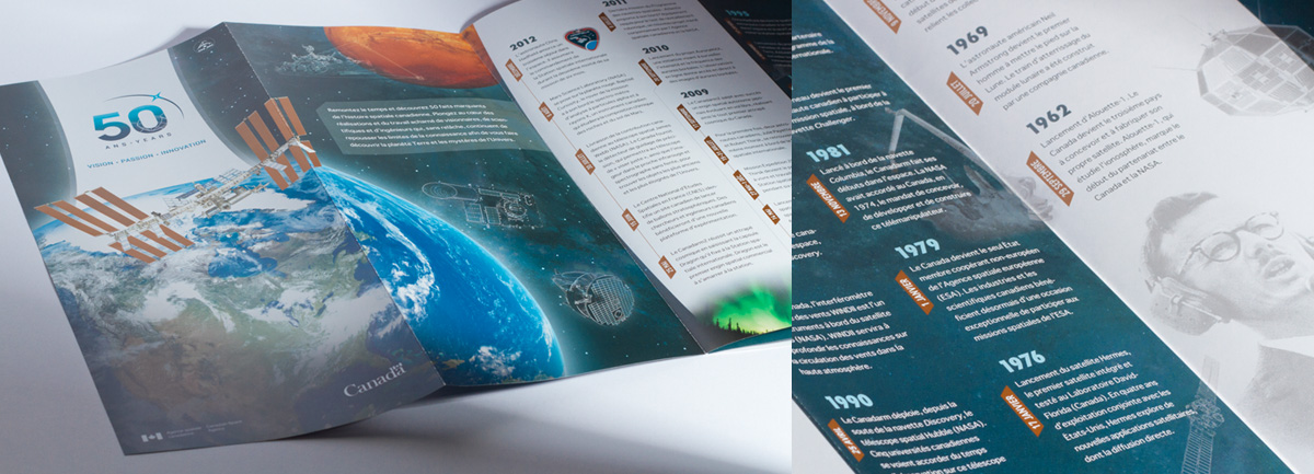 Canadian Space Agency - Branding and Exhibition – 50<sup>th</sup> Anniversary