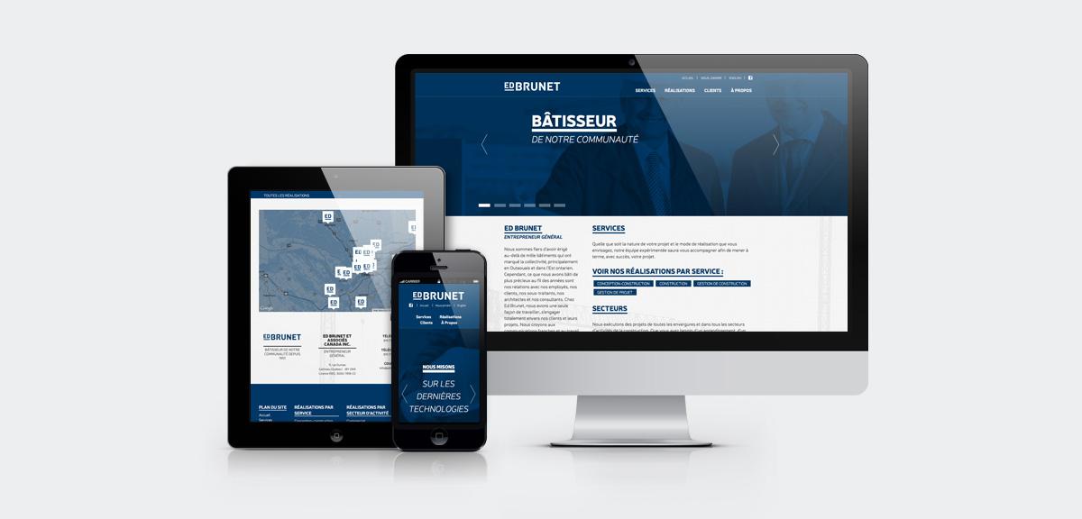 Ed Brunet - Image de marque et site Web