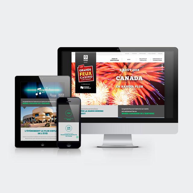 Casino Sound of Light – Website