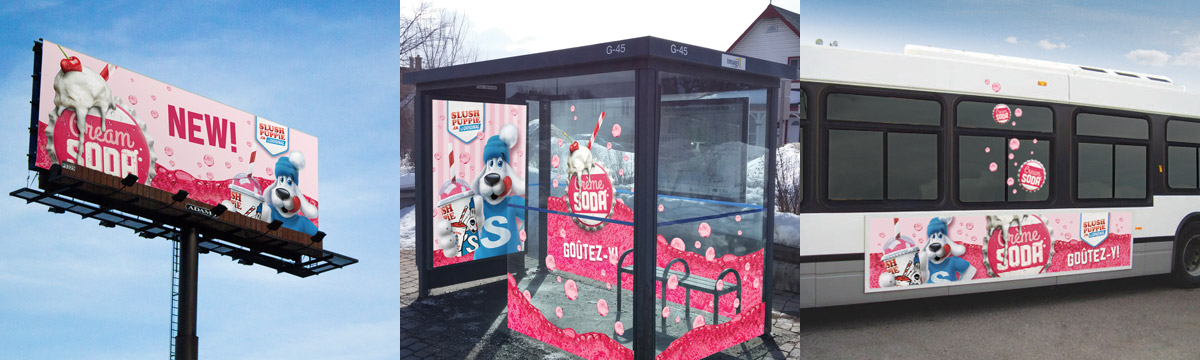 Slush Puppie Canada - Advertising Campaign - New Cream Soda Flavour