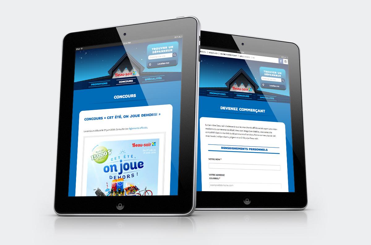 Dépanneurs Beau-soir - Site Web