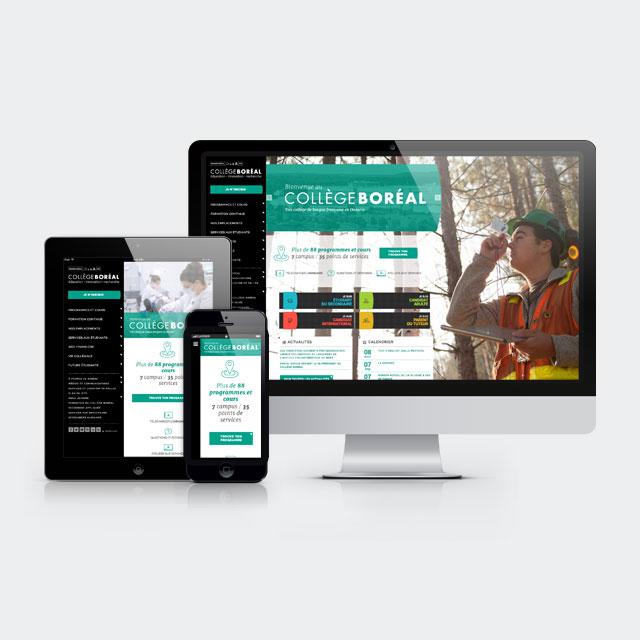 Collège Boréal – Site Web